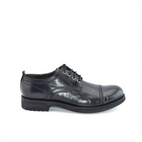 JP David 34804 man black leather lace ups shoes