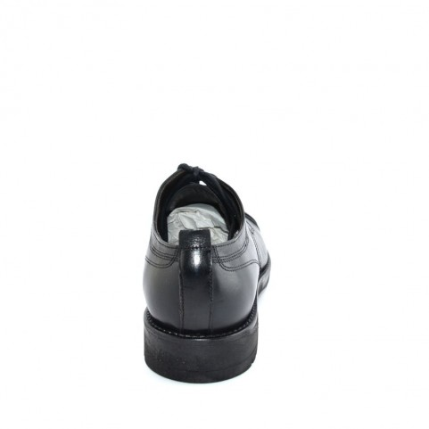 JP David 34804 man black leather lace ups shoes