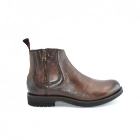 JP David 34925 man burnt brown leather beatles ankle boots