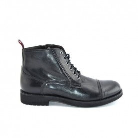JP David 34925 man black combact boots shoes