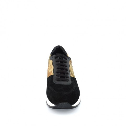 Alviero Martini ZA820 man black and geo sneakers