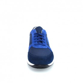 Byblos Blu 682057 blue suede and nylon man sneakers