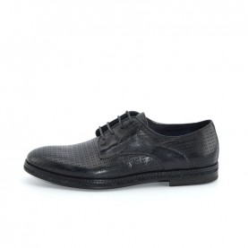 Corvari 8115 lace ups black leather shoes
