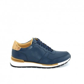 Alviero Martini P968 blue and geo beige man sneakers