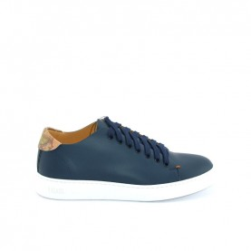 Alviero Martini P939 blue and geo beige man sneakers