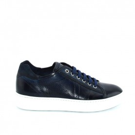 Corvari 8974 blue leather sneakers