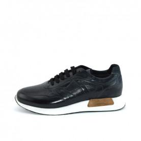 Corvari 8981 black leather sneakers