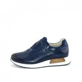 Corvari 8234 blue leather sneakers
