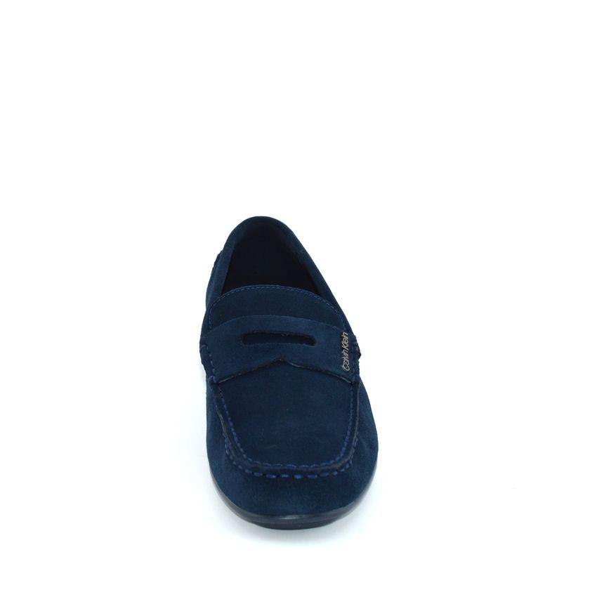 274bb2c852 Calvin Klein Ivan mocassino uomo camoscio blu