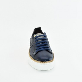Corvari 9660 blue leather sneakers