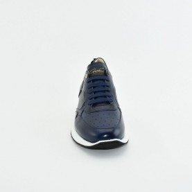 Corvari 9660 blue leather sneakers