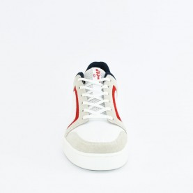 Levi's Mullet 2.0 man white blue red sneakers