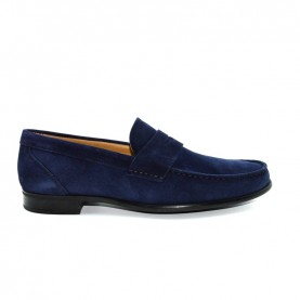 Manila 867F loafer blue suede