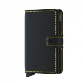 Secrid Miniwallet matte black/yellow