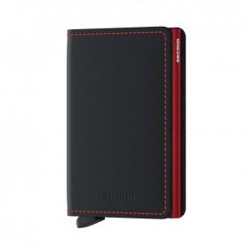Secrid Slimwallet Matte black/red