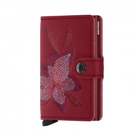 Secrid Miniwallet Stitch magnolia red