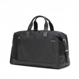 Ciak Roncato 200420 Squadra black cabin leather duffle bag