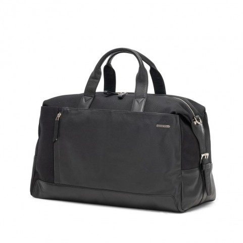 Ciak Roncato 200420 Squadra black cabin leather duffle bag